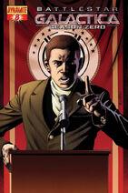 Battlestar Galactica Season Zero Issue 8 Herbert cover