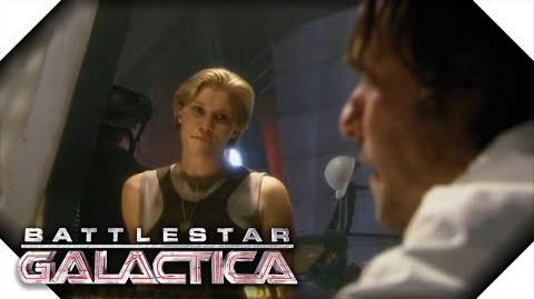 Battlestar Galactica Starbuck Walks In On Gaius And Number Six