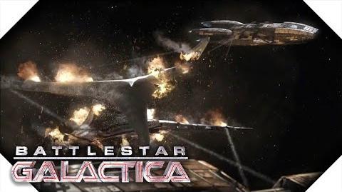 Battlestar Galactica Pegasus & Galactica Vs Cylon Resurrection Ship