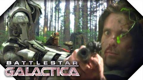 Battlestar Galactica Gaius Baltar Shoots Crashdown on Kobol