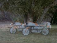 Galactica Discovers Earth - Turbines cloaking