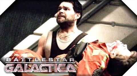 Battlestar Galactica Galen Attacks Cally