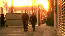 Valley of Darkness - Helo and Starbuck walk through the streets