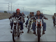 Galactica Discovers Earth - Biker gang