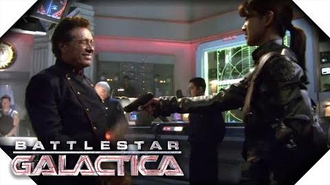 Battlestar Galactica Boomer Shoots Adama