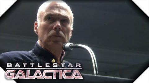 Battlestar Galactica Saul Tigh Declares Martial Law