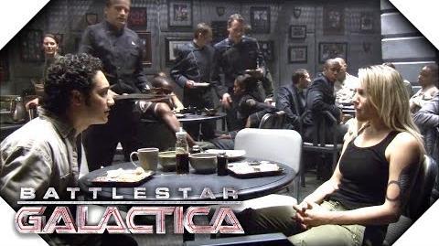Battlestar Galactica Starbuck Tells Felix He's A Frakking Hero