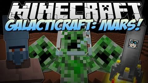 Minecraft GALACTICRAFT MARS! (3 HEADED CREEPER BOSS!) Mod Showcase