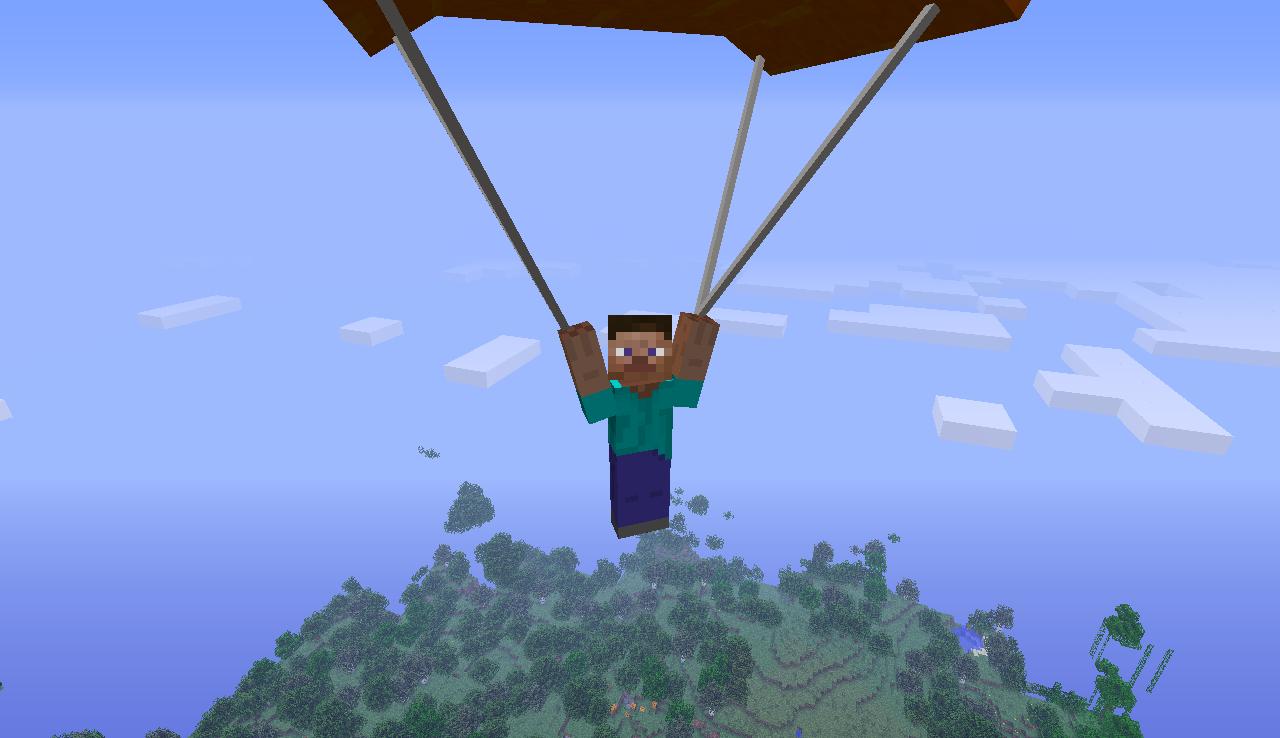 здесь парашют в майнкрафт легенде, снежного барса