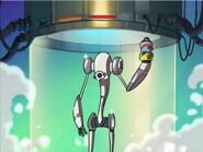 Galactik Football Naked Technoid Android out of the showe