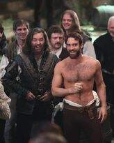 Galavant Off With His Shirt Timothy Omundson Joshua Sasse 06