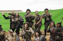 Galavant A New Season BTS Martin Collins Timothy Omundson Hugh Bonneville Joshua Sasse Adam Loxley