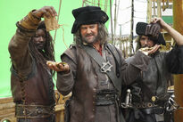 Galavant A New Season BTS Hugh Bonneville