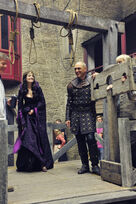 Galavant A New Season BTS Mallory Jansen and Vinnie Jones