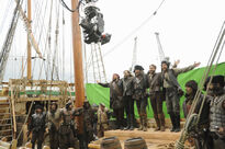 Galavant A New Season BTS Martin Collins Timothy Omundson Hugh Bonneville Joshua Sasse Adam Loxley 2