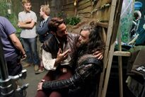 Galavant Off With His Shirt Timothy Omundson Joshua Sasse 04