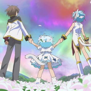 The family in the flower fields of Sprite.