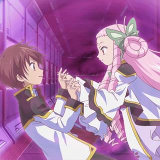 Natsume saves Kazuya inside her barrier