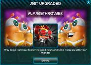 Flamethrower upgraded