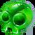 Mineral skull
