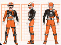 SPD Orange Ranger Swat Mode
