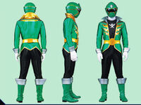 Green Super Megaforce Ranger Form