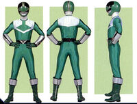Green Time Force Ranger Form