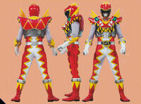 T-Rex Super Charge Red Ranger Form