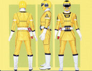 Yellow Turbo Ranger Form
