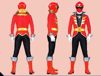 Red Super Megaforce Ranger Form