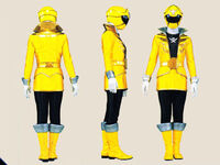 Yellow Super Megaforce Ranger Form