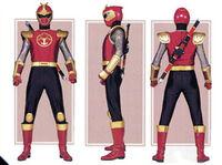 Crimson Thunder Ranger Form