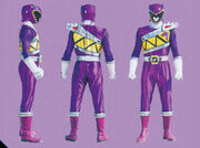 Purple Dino Charge Ranger Form
