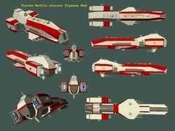 GoF Terran Battle cruiser Ulysses Red 01