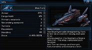 Ship blue fyre info page