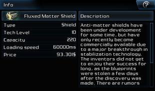 Fluxed Matter Shield