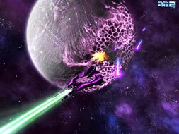 Void X in combat on homeworld
