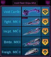 Void fleet ships