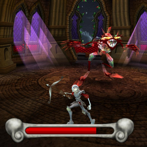 Battle with the Stained Glass Demon.