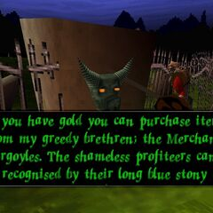 A Gargoyle in an early version of the game.