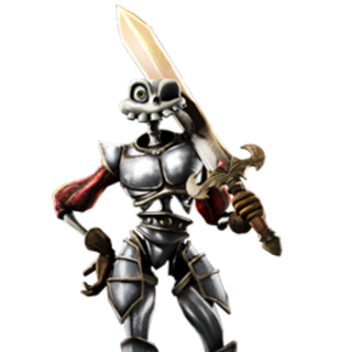 Knight Armour full body render.