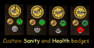 Sanity and Health Badges