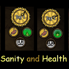 Sanity and Health Badges.