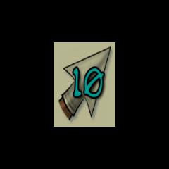 10 arrows.