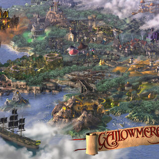 Inlay Map of Gallowmere in <i>MediEvil: Resurrection</i> cover.