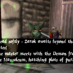 A voiced Gargoyle in the early version.
