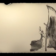 Death artwork in credits.