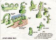 Hedge sculptures