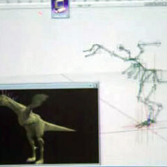 CGI and wire-frame model as seen in