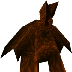 A Mecha Imp (Wickerman) in the <i>MediEvil Rolling Demo</i>.